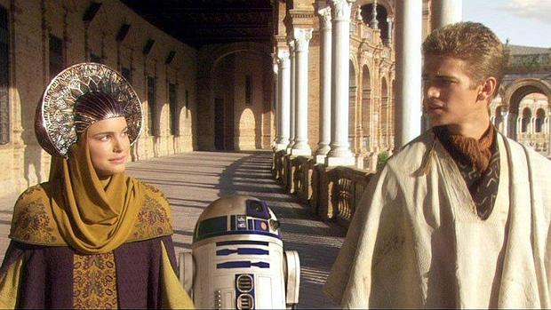 A scene from Star Wars at the Plaza De Espana