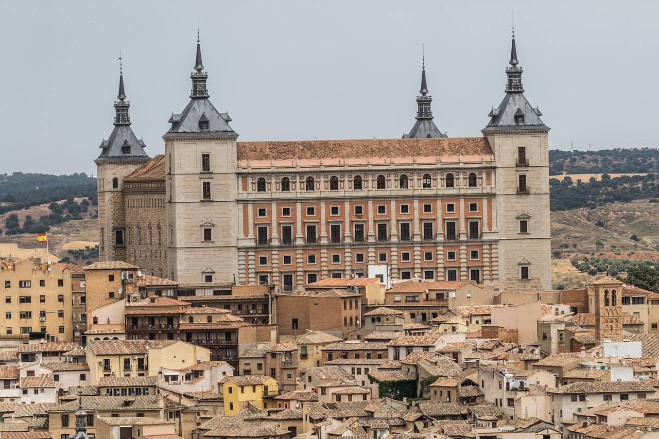 An external view of the Toledo Alcazar in spain
